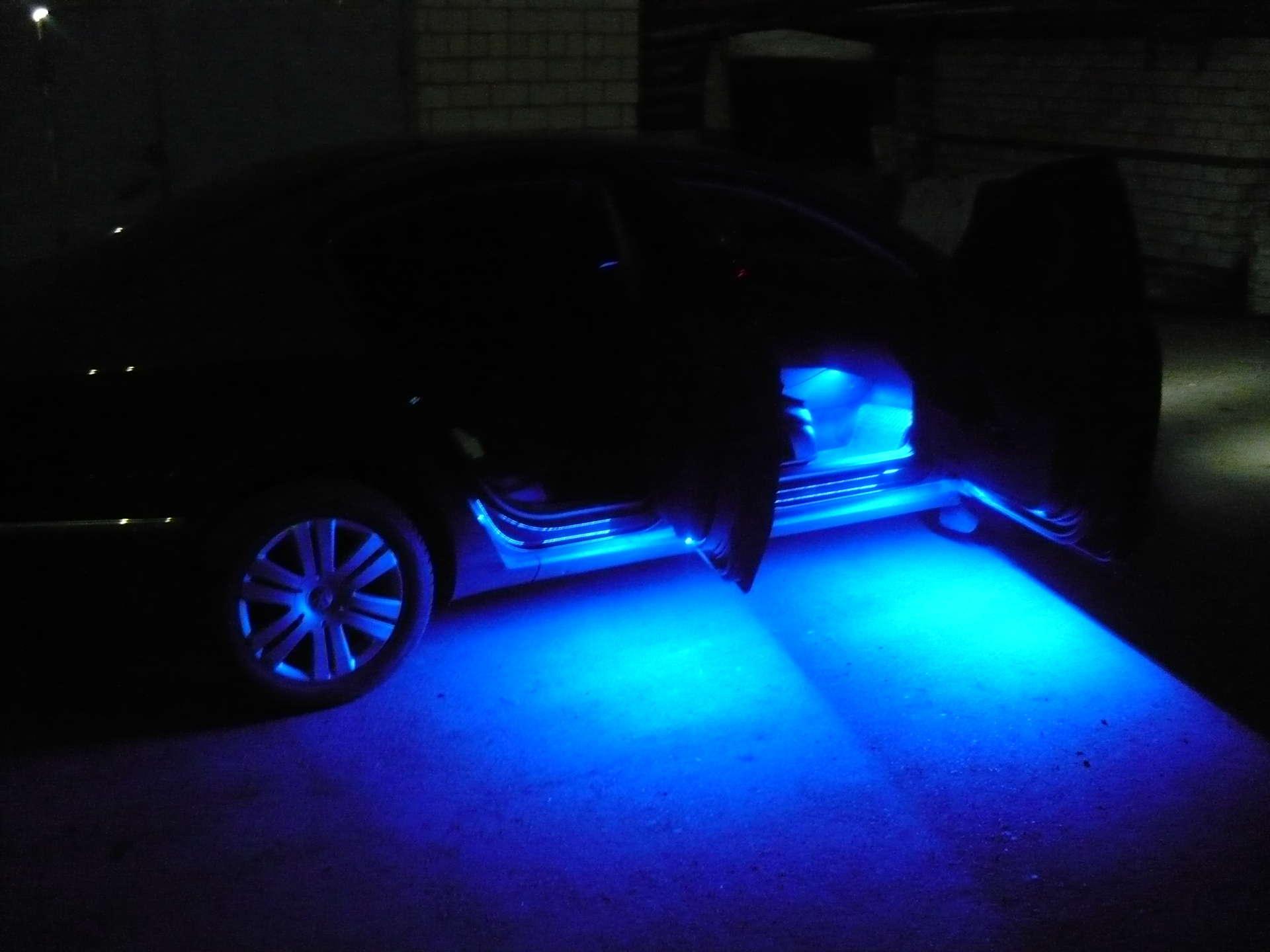 Подсветка машины светодиодными лентами своими руками